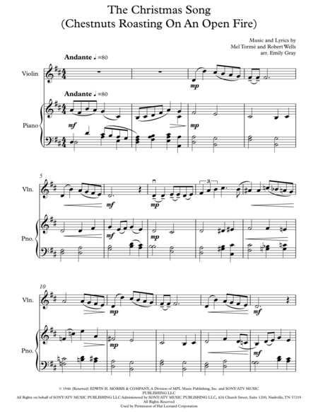 chestnuts roasting on an open fire piano sheet music pdf