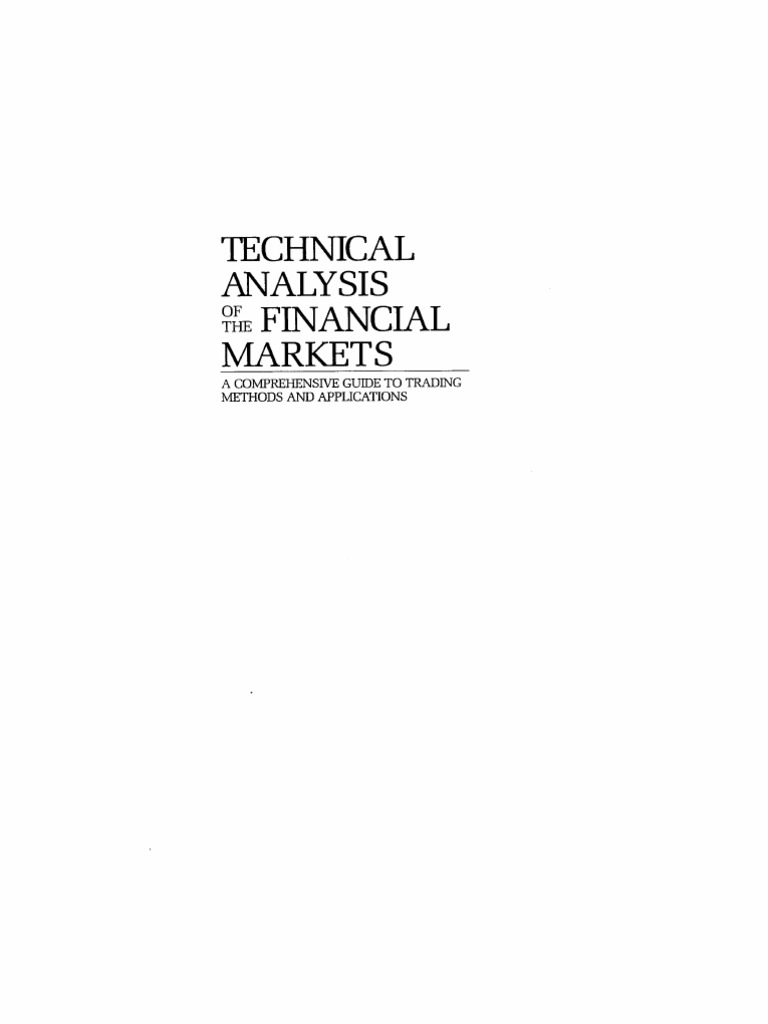 technical analysis of the financial markets pdf