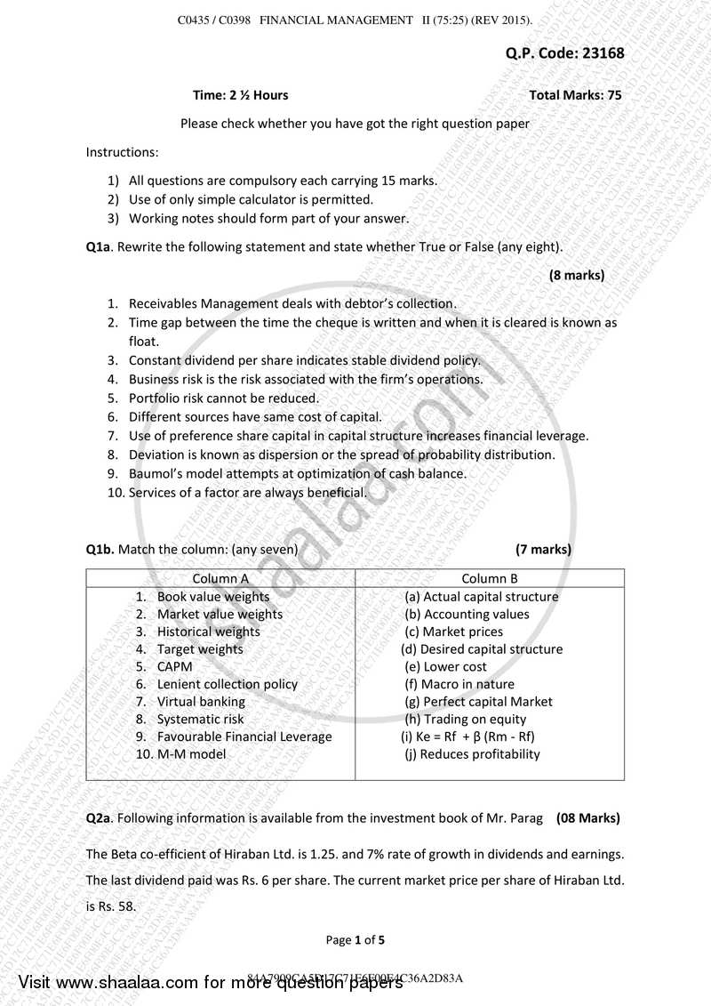 financial accounting exam questions and answers pdf