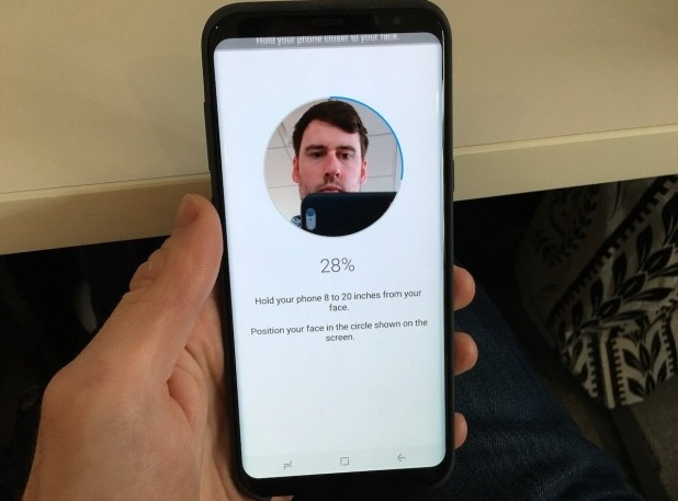 how to enter the application in samsung galaxy s8