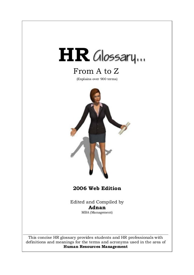 hr glossary from a to z