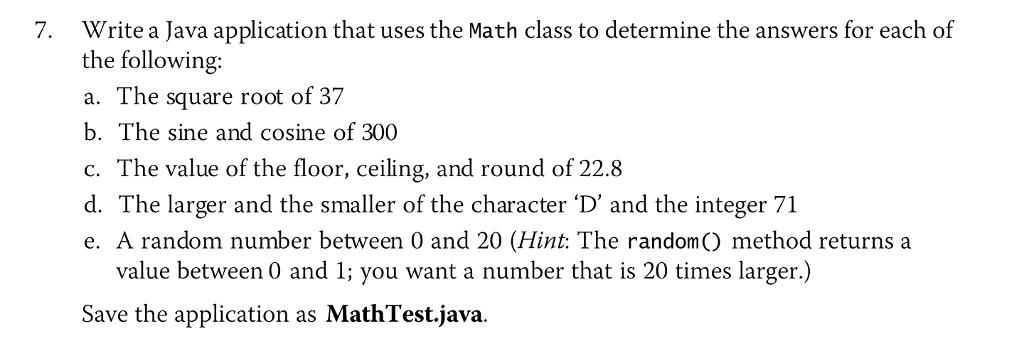 java application means one class
