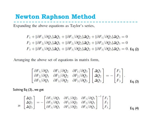 newton raphson method examples and solutions pdf