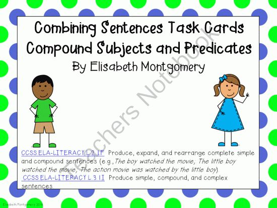 simple and compound subject worksheets pdf for grade 3