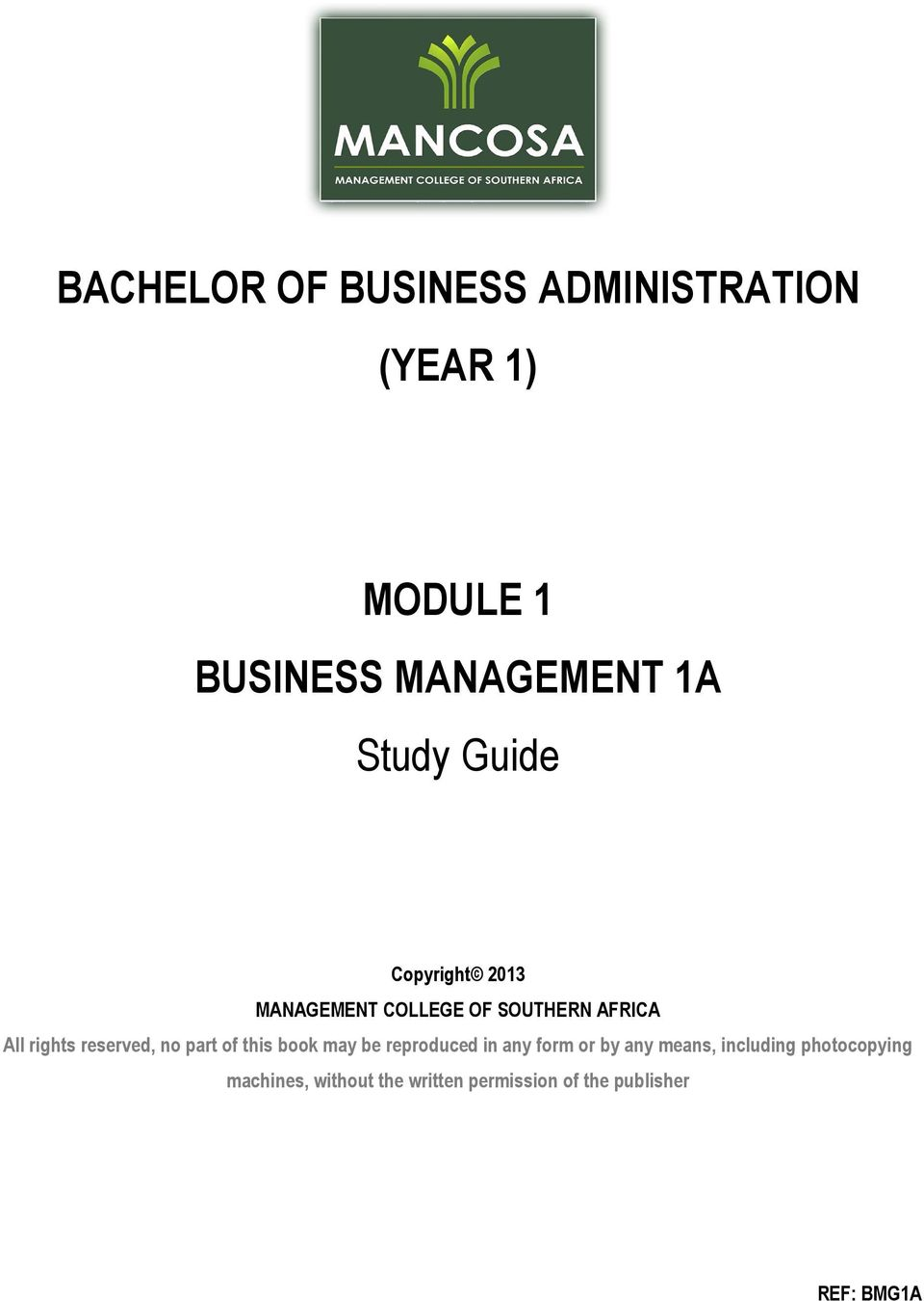 sv of a business management student pdf